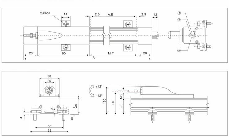 ktc直线位移传感器,ktr电子尺