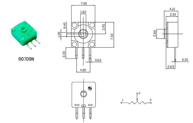 航模舵机用电位器